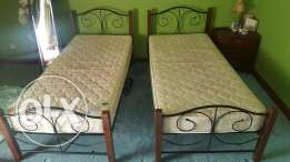 2 single beds with mattress for sale