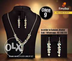 Milano 18k gold plated jewellery set