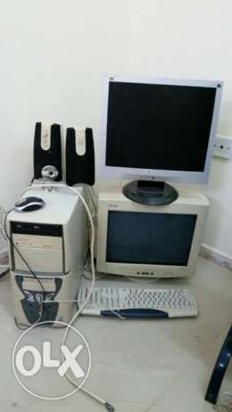 Intel Celeron 550 with two monitors for sale