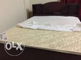 Double bed with mattress & Ceiling fan