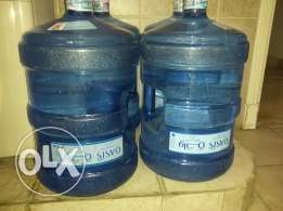 Oasis 5 gallon 2 refill empty bottles