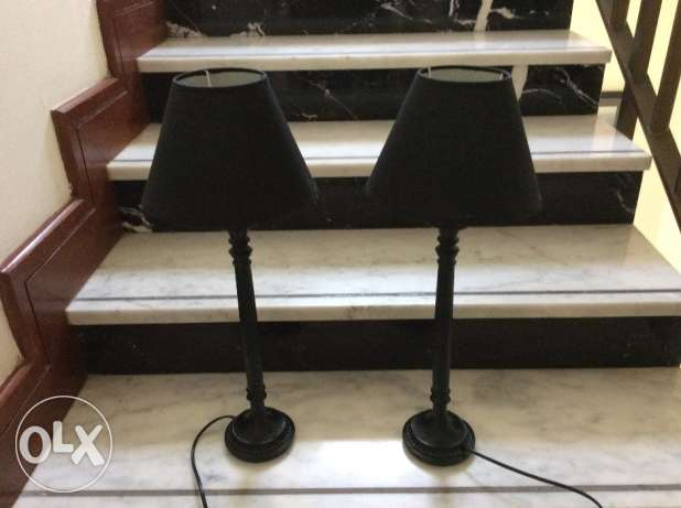 Black table lamps from Home Centre