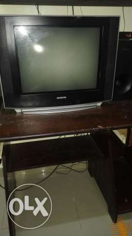 Used television with tv wooden standin good condition