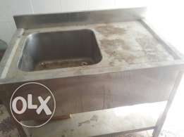 Steel dish washing table not used