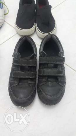 Alot of branded shoes and clothes for boy from 3 -5 years in excellent