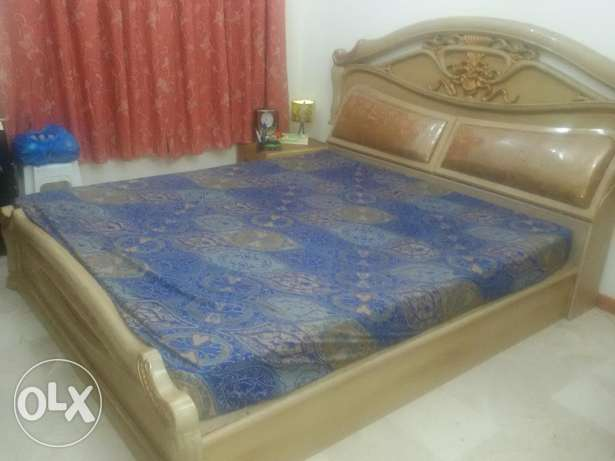 Queen size cot with ortho matress