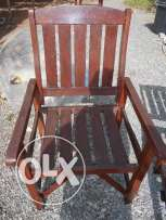 Wooden garden chairs