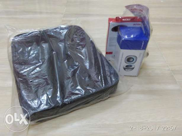 Laptop Bag, Speakers, Wireless Mouse, Head Phones (ALL BRAND NEW)