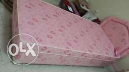 single strong excellent bed with mattress only 35 (5month old)