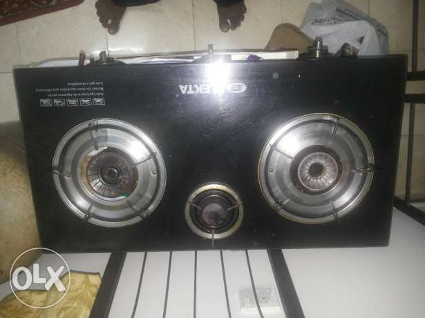 Glass Top Gas Stove - 3 burner Good condition